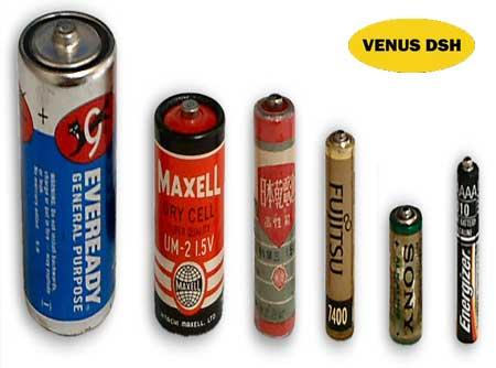 مقایسه انواع باتری
